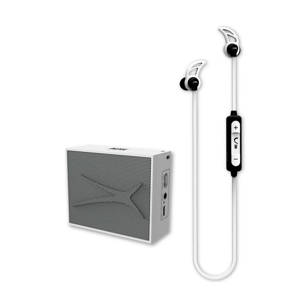 Altec lansing urban sound pack blanco auriculares snake boton y altavoz pocket inalámbrico bluetooth