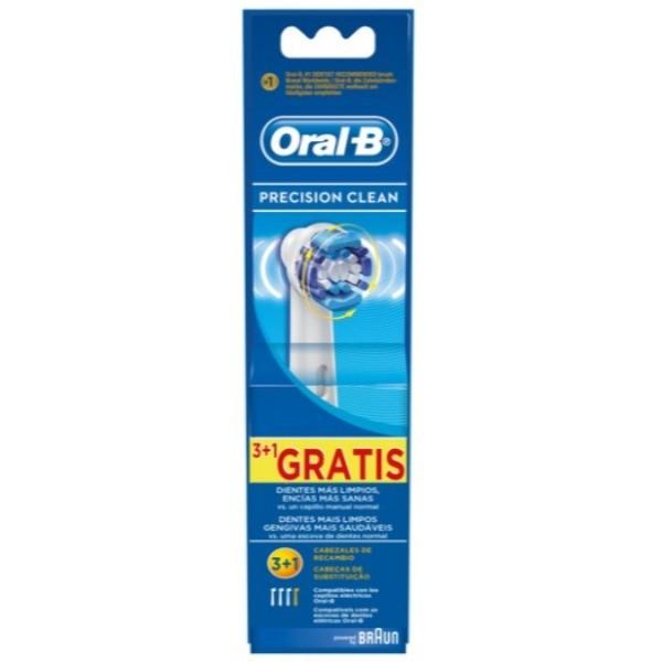 Oral-B Precision Clean cabezales Recambio 3 + 1 gratis