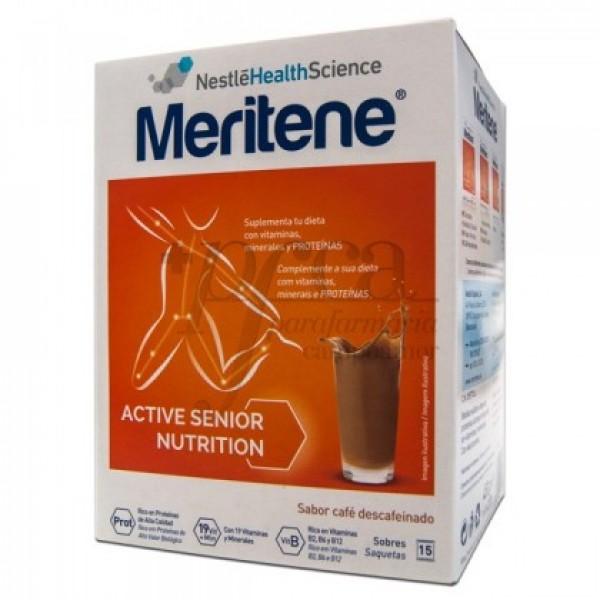 MERITENE BATIDO CAFÉ DESCAFEINADO 15 SOBRES