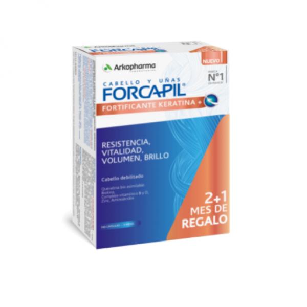 FORCAPIL FORTIFICANTE KERATINA+ 180 CAPS PROMO